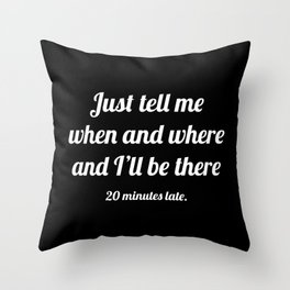The Guilty Person III Throw Pillow