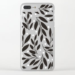 Floral pattern in terra cotta Clear iPhone Case
