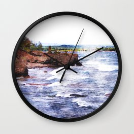Upper Peninsula Landscape Wall Clock