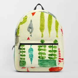 Cactus, Leaves, Florals Backpack