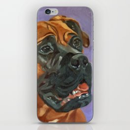 Finnly the Bull Mastiff Dog Portrait iPhone Skin