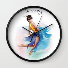 dancing ballerina2 Wall Clock