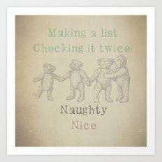 Making a List Art Print