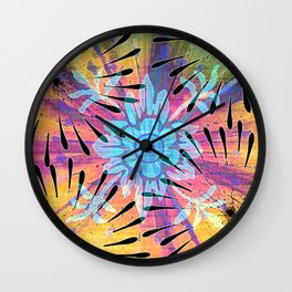 Colors Colide Wall Clock