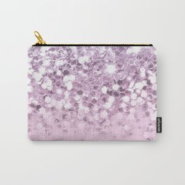 Faux Sparkly Unicorn Pink Glitter Ombre Carry-All Pouch