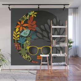 Afro Diva : Sophisticated Lady Gray Wall Mural