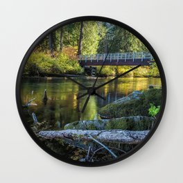 Fall at Clear Lake, No. 1 Wall Clock