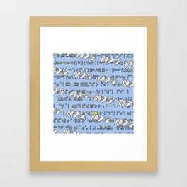 KAOMOJI / Japanese Emoticons Framed Art Print