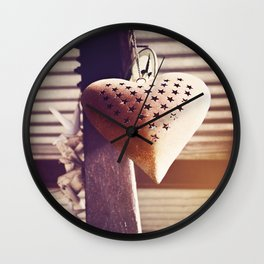Hanging heart Wall Clock