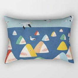Shark Park Rectangular Pillow