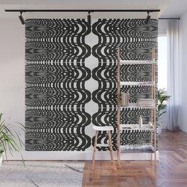 Black and White Swish Wall Mural