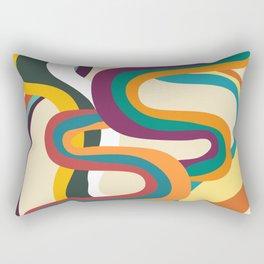 Groovy rainbow of doom Rectangular Pillow