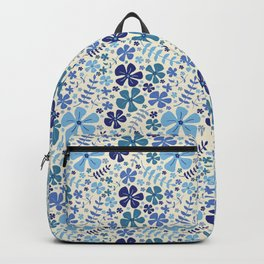 My Little Garden blue & green Backpack