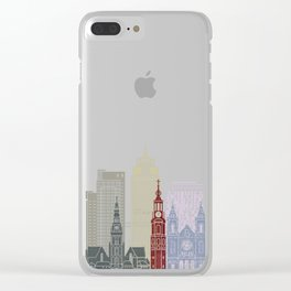 Amsterdam V2 skyline poster Clear iPhone Case