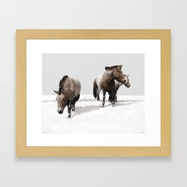 Ice Age Horses Framed Art Print