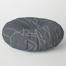 Monstera No2 Black Edition Floor Pillow
