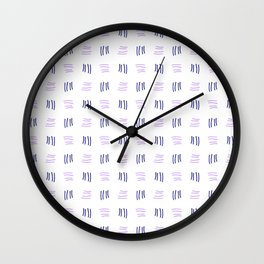 four lines 23 blue and purple Wall Clock