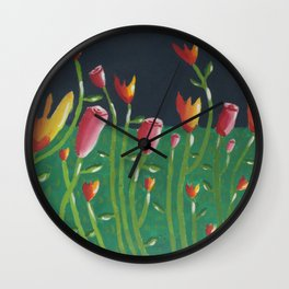 Field of Fowers painting Wall Clock