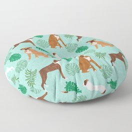 boxer monstera tropical summer dog breed gifts pure breed pets Floor Pillow