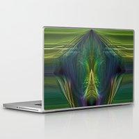 lantern Laptop & iPad Skins featuring Lantern Flame by Avril Harris