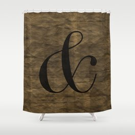 Didot Ampersand Shower Curtain