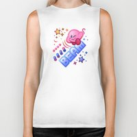 kirby Biker Tanks featuring Kirby Beam by likelikes