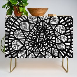 Black and White Doodle 7 Credenza