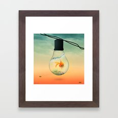 GOLD FISH Framed Art Print