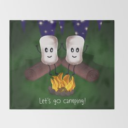 Let's Go Camping! Throw Blanket