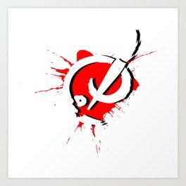 Badass Art Logo v2 Art Print