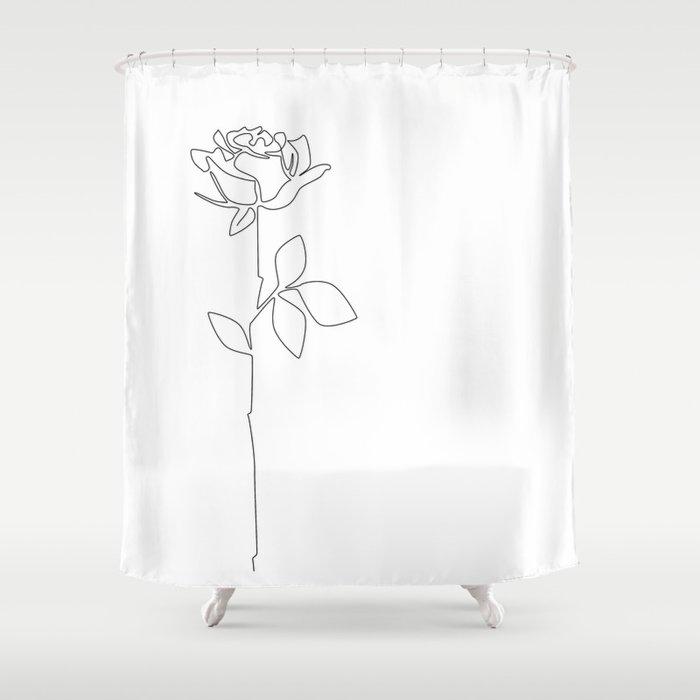 Fragile Rose Shower Curtain