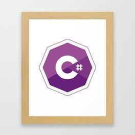 C# logo for csharp developers visual studio Framed Art Print