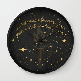 I Ain't Pageant Material Wall Clock