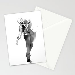 Fashion silhouette black and white - Ozie girl Stationery Cards