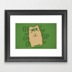 Gangnam Kitty Framed Art Print