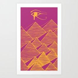 Pyramid Sky Art Print