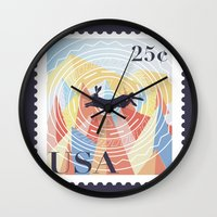 writer Wall Clocks featuring For The Natural Writer by K Dvs