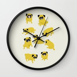 Good Vibes With Nasty The Pug Wall Clock
