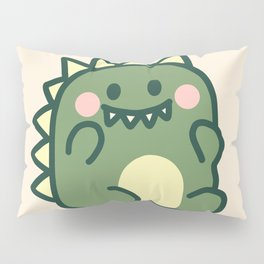 Cute chubby dinosaur Pillow Sham