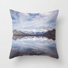 Mountain Lake Reflection Throw Pillow