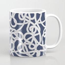Nautical Rope Knots in Navy Coffee Mug