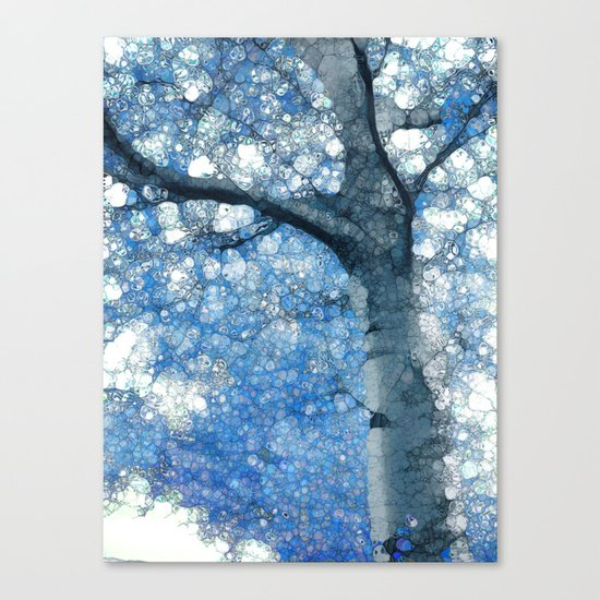 Magic Blue Tree Canvas Print