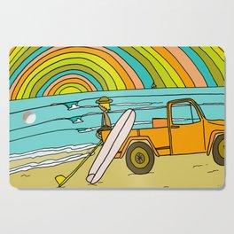 Retro Surf Days Single Fin Pick Up Truck Cutting Board