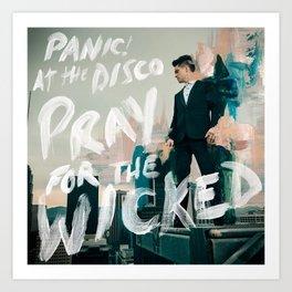 panic album at the disco tour 2019 kripton Art Print