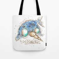 narwhal Tote Bags featuring Narwhal by Morgan Ofsharick - meoillustration