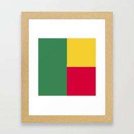 Benin flag emblem Framed Art Print