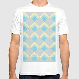 Diamond Art Deco; - Blue T-shirt