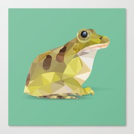 Low Poly Leopard Frog Canvas Print