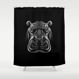 Tribal hippopotamus Shower Curtain