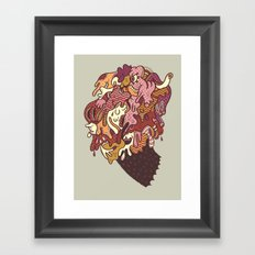 Painted Trojan Framed Art Print
